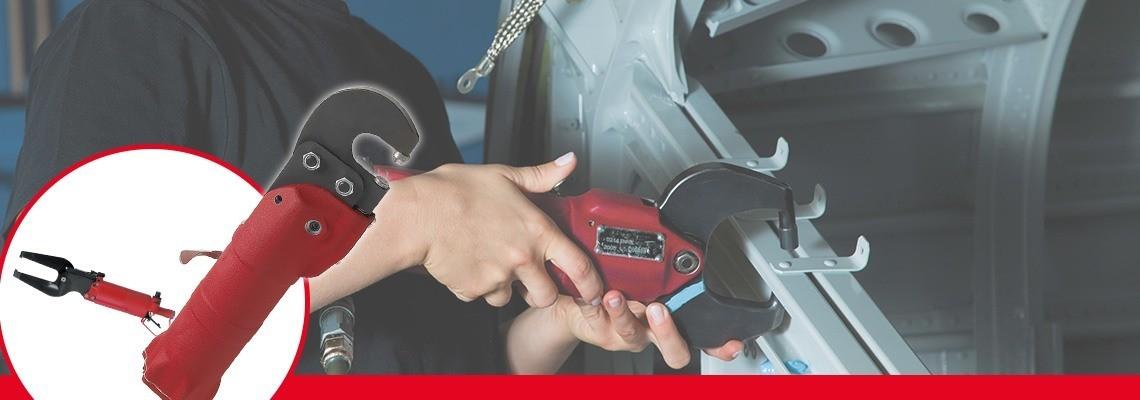 A Desoutter Tools projetou uma linha completa de ferramentas de compressão pneumática para  a indústria automotiva e aeronáutica. Peça uma cotação ou uma demonstração!