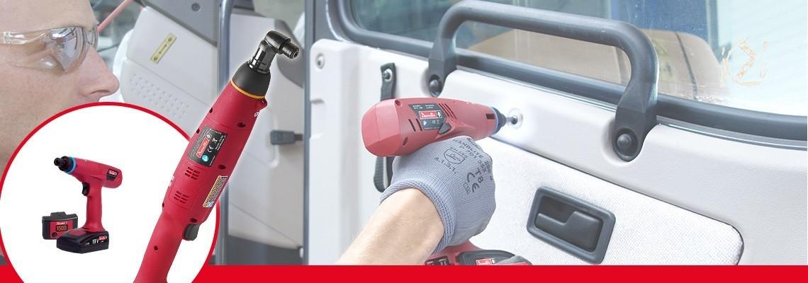 Conheça a série E-LIT da Desoutter Industrial Tools. A melhor ergonomia para ferramentas de embreagem a bateria de 0,4 a 45 Nm, 2 velocidades e um software de configuração.