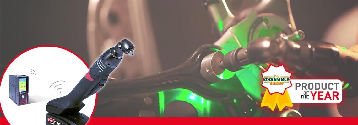 O EABS é a nossa nova apertadeira a bateria e foi projetada ergonomicamente para operação com apenas uma das mãos